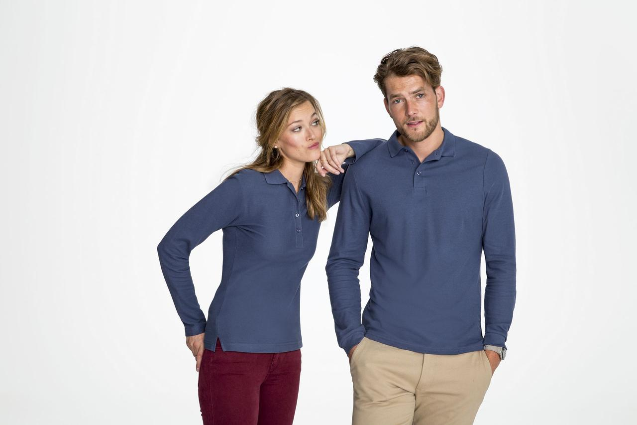 Рубашка поло мужская с длинным рукавом Winter II 210 шоколадно-коричневая (артикул 11353398) - фото 6