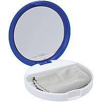 Зеркало с подставкой для телефона Self, синее с белым (артикул 11633.40)