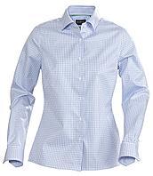 Рубашка женская в клетку Tribeca Ladies, голубая (артикул 6564.14)