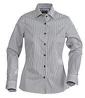 Рубашка женская в клетку Tribeca Ladies, черная (артикул 6564.30)