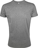 Футболка мужская приталенная Regent Fit 150, серый меланж (артикул 5973.10)