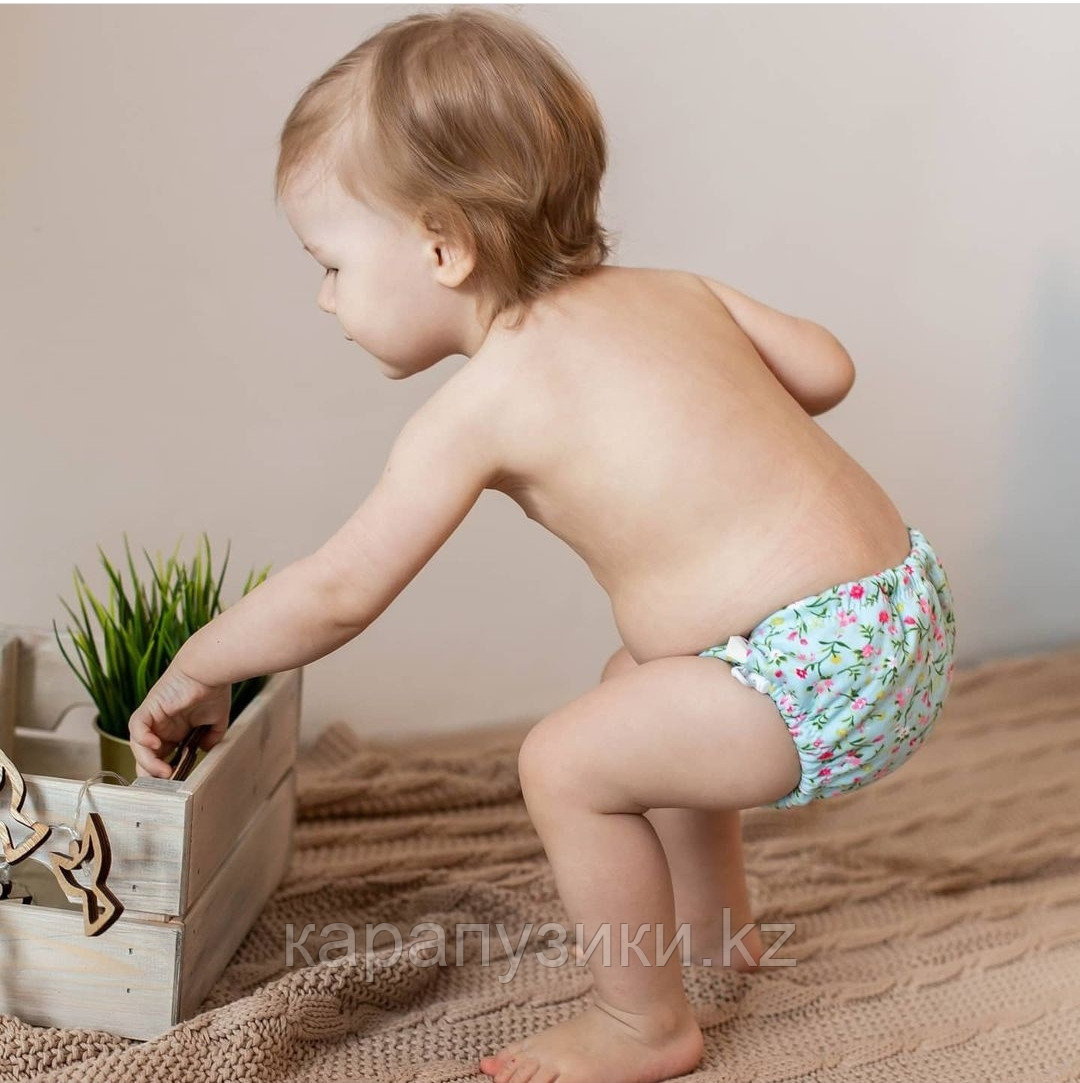 Акваподгузник для плавания  цветы