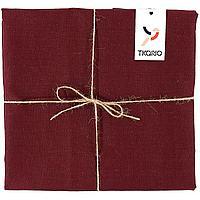 Скатерть Essential с пропиткой, квадратная, бордовая (артикул 10652.50)