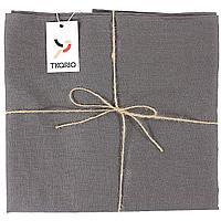 Скатерть Essential с пропиткой, квадратная, темно-серая (артикул 10652.10)
