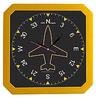 Часы настенные «Квадро», желтые (артикул 5969.80)
