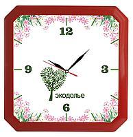 Часы настенные «Квадро», красные (артикул 5969.50)