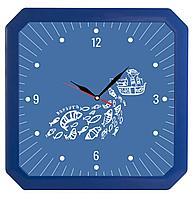 Часы настенные «Квадро», синие (артикул 5969.40)