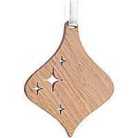 Деревянная подвеска Carving Oak, в форме елочной игрушки (артикул 12827.06)