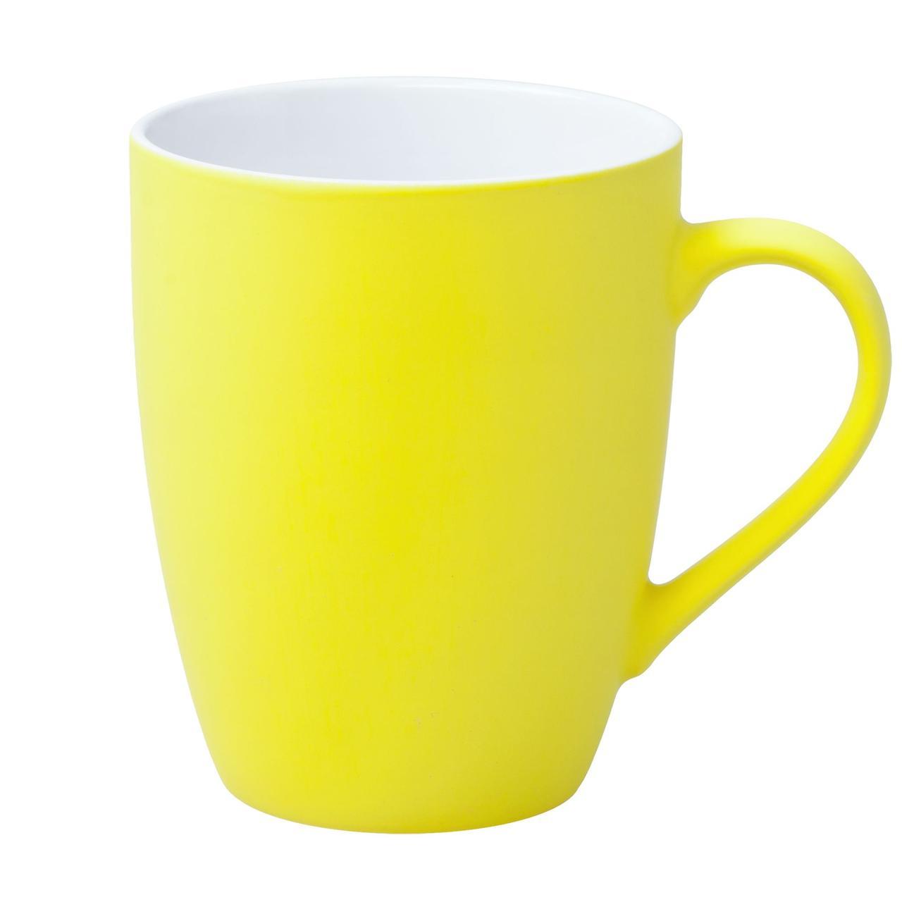 Кружка Good Morning c покрытием софт-тач, желтая (артикул 6483.81)