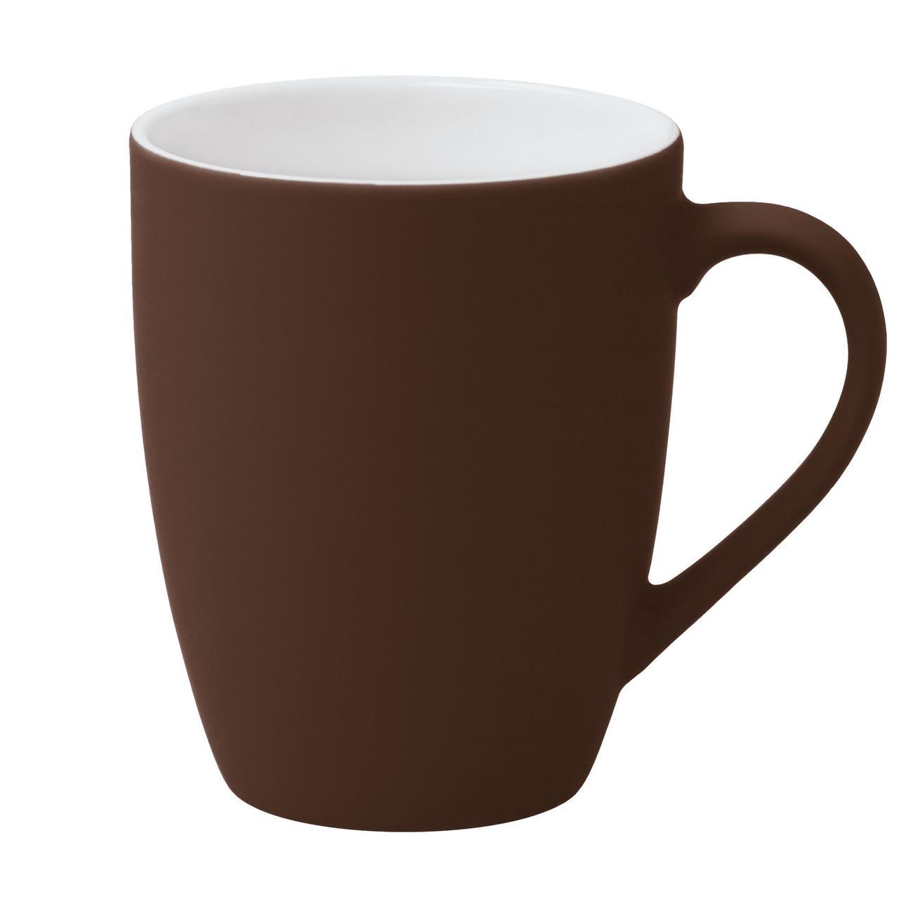Кружка Good Morning c покрытием софт-тач, коричневая (артикул 6483.59)