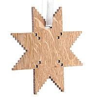 Деревянная подвеска Carving Oak, в форме снежинки (артикул 12827.03)