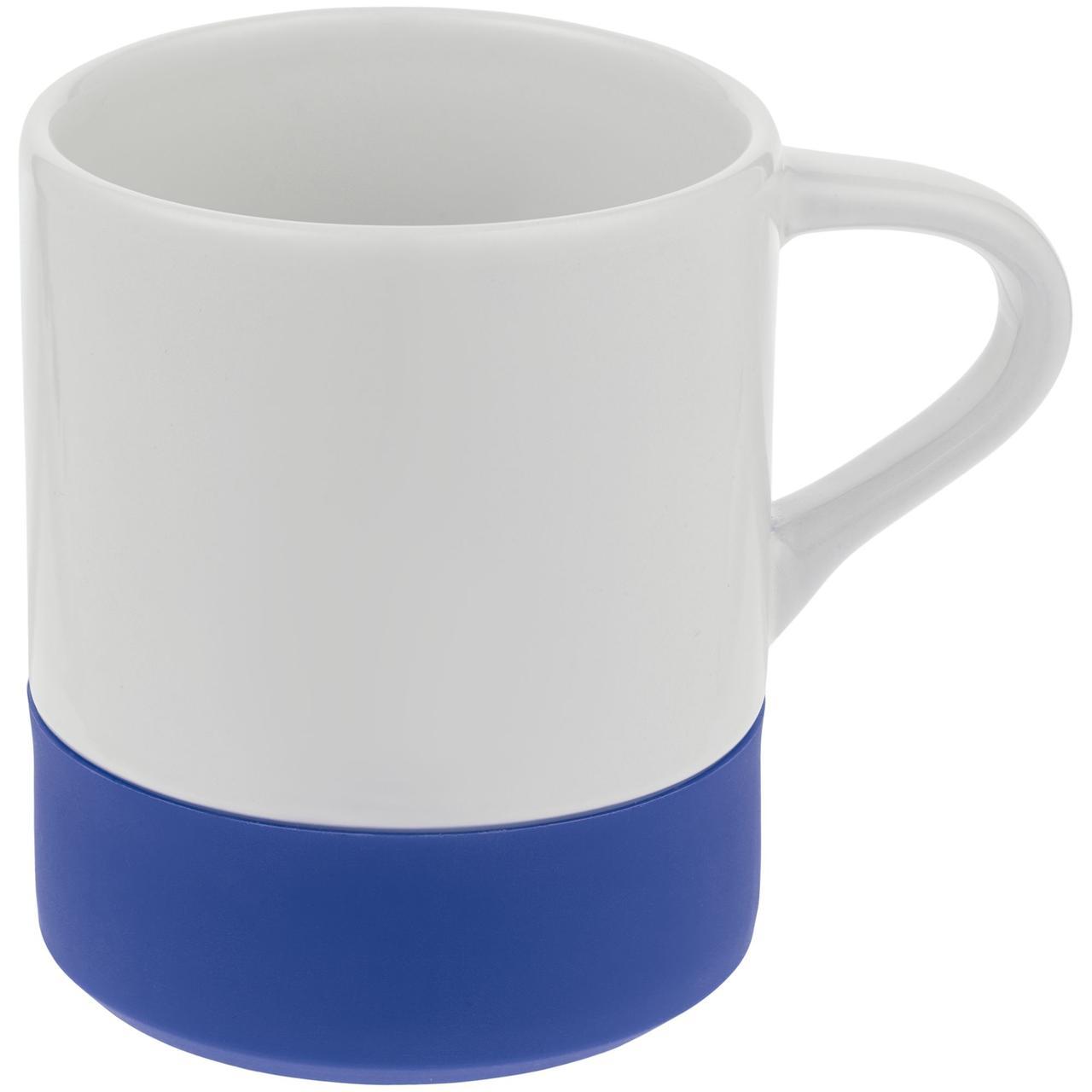 Кружка с силиконовой подставкой Protege , синяя (артикул 12892.40)