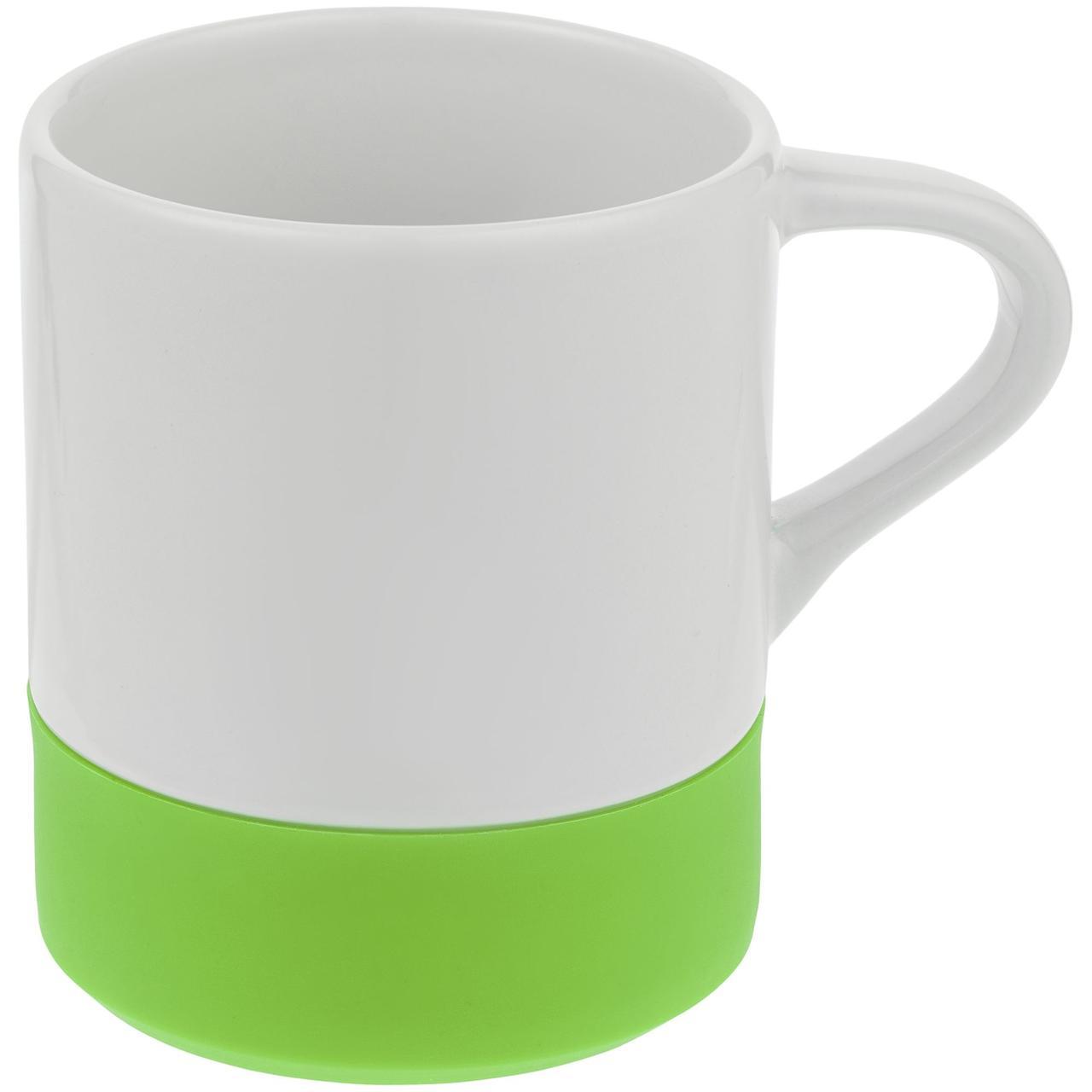 Кружка с силиконовой подставкой Protege, зеленое яблоко (артикул 12892.91)