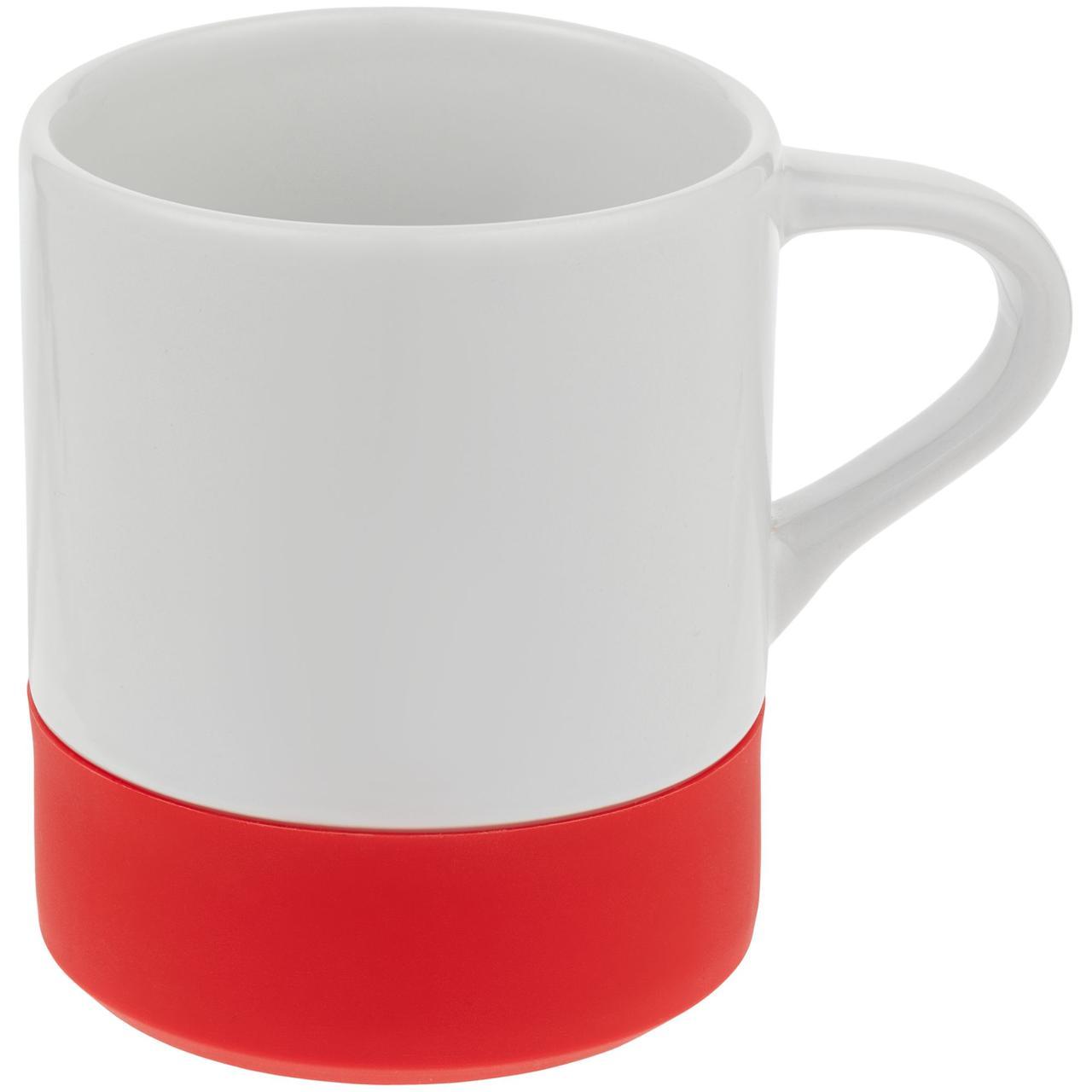 Кружка с силиконовой подставкой Protege, красная (артикул 12892.50)