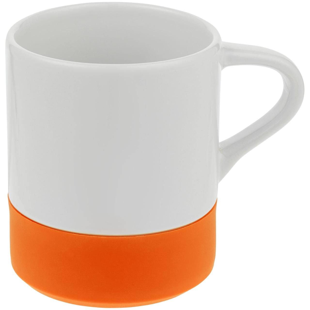 Кружка с силиконовой подставкой Protege, оранжевая (артикул 12892.20)
