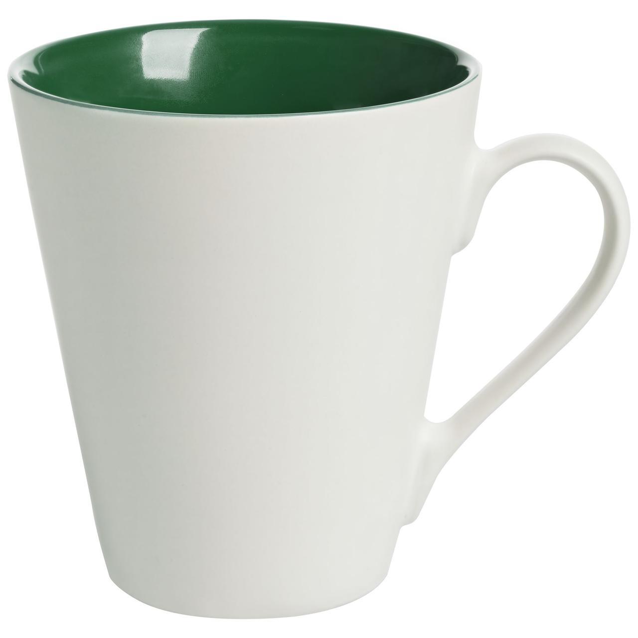 Кружка New Bell матовая, белая с зеленым (артикул 64811.90)