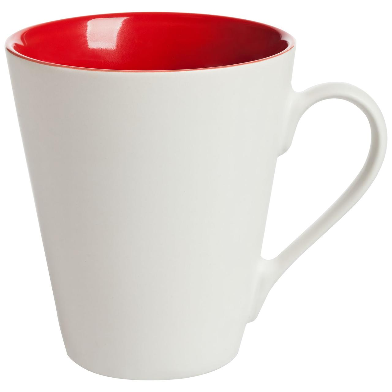 Кружка New Bell матовая, белая с красным (артикул 64811.50)