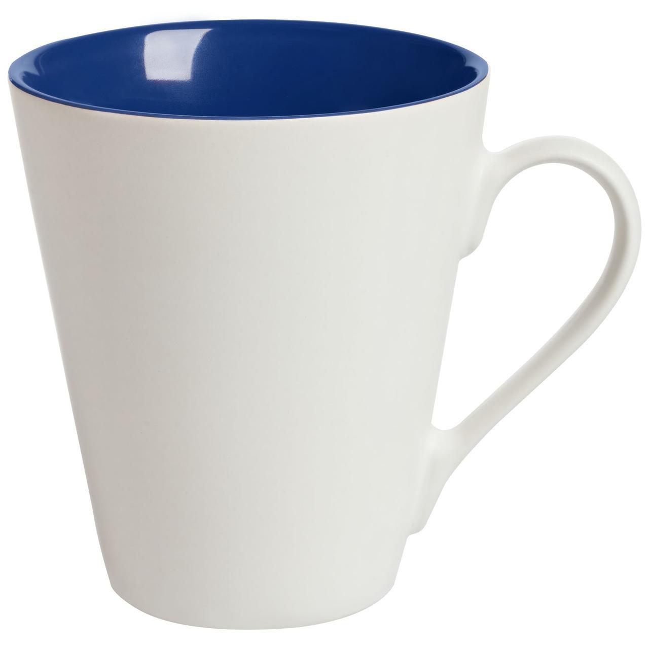 Кружка New Bell матовая, белая с синим (артикул 64811.40)