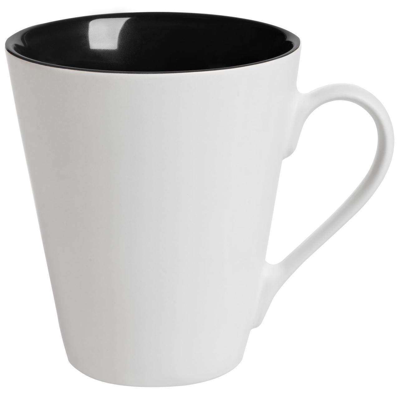 Кружка New Bell матовая, белая с черным (артикул 64811.30)
