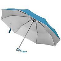Зонт складной Silverlake, голубой с серебристым (артикул 79135.14)