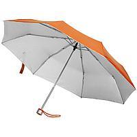 Зонт складной Silverlake, оранжевый с серебристым (артикул 79135.20)