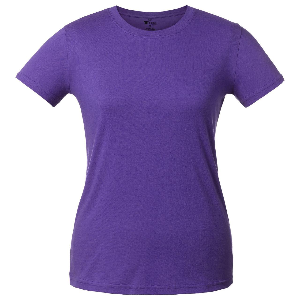 Футболка женская T-bolka Lady, фиолетовая (артикул 1878.77)
