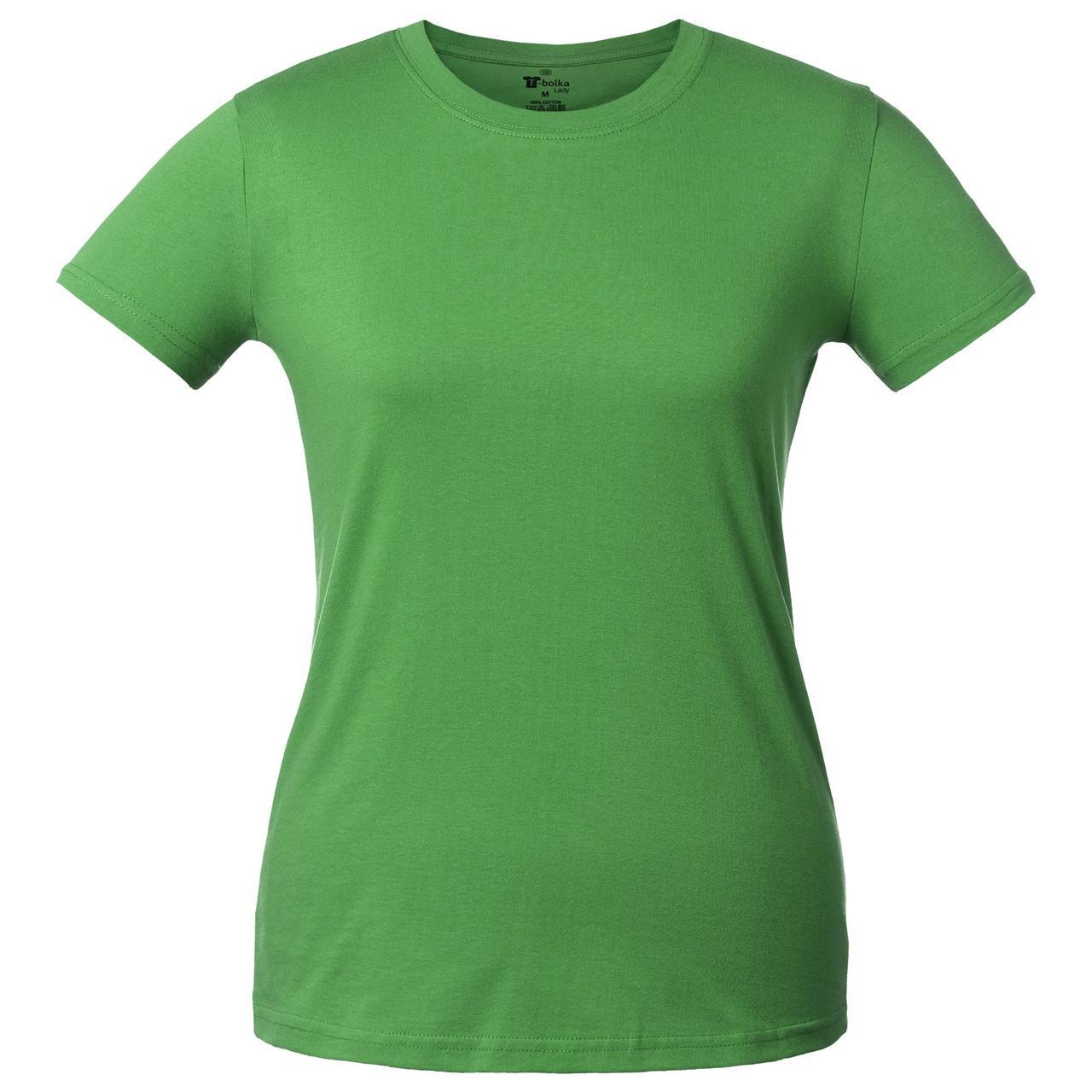 Футболка женская T-bolka Lady, ярко-зеленая (артикул 1878.92)