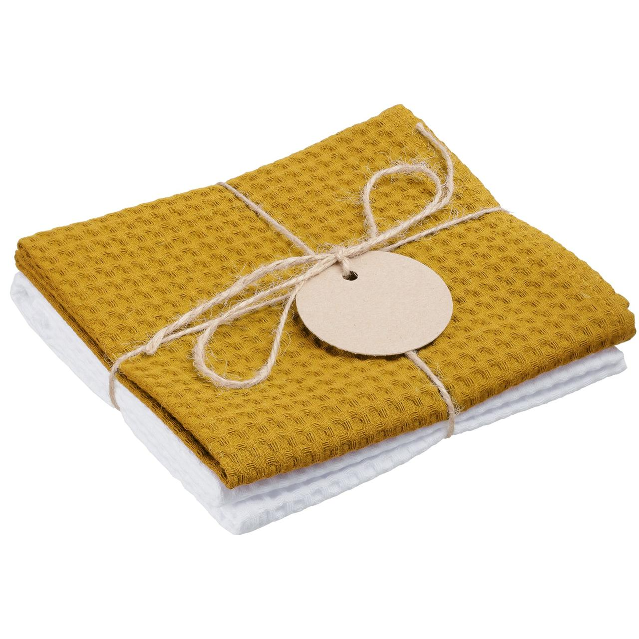 Набор кухонных полотенец Good Wipe, белый с желтым (артикул 11176.68)