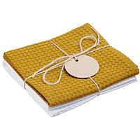 Набор кухонных полотенец Good Wipe, белый с желтым (артикул 11176.68), фото 1