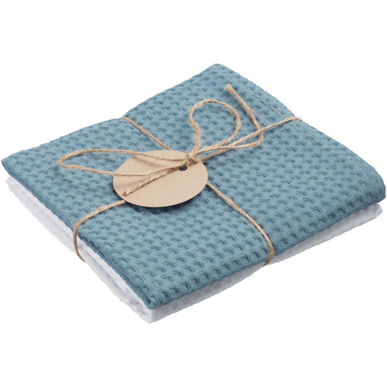Набор кухонных полотенец Good Wipe, белый с серо-голубым (артикул 11176.61)
