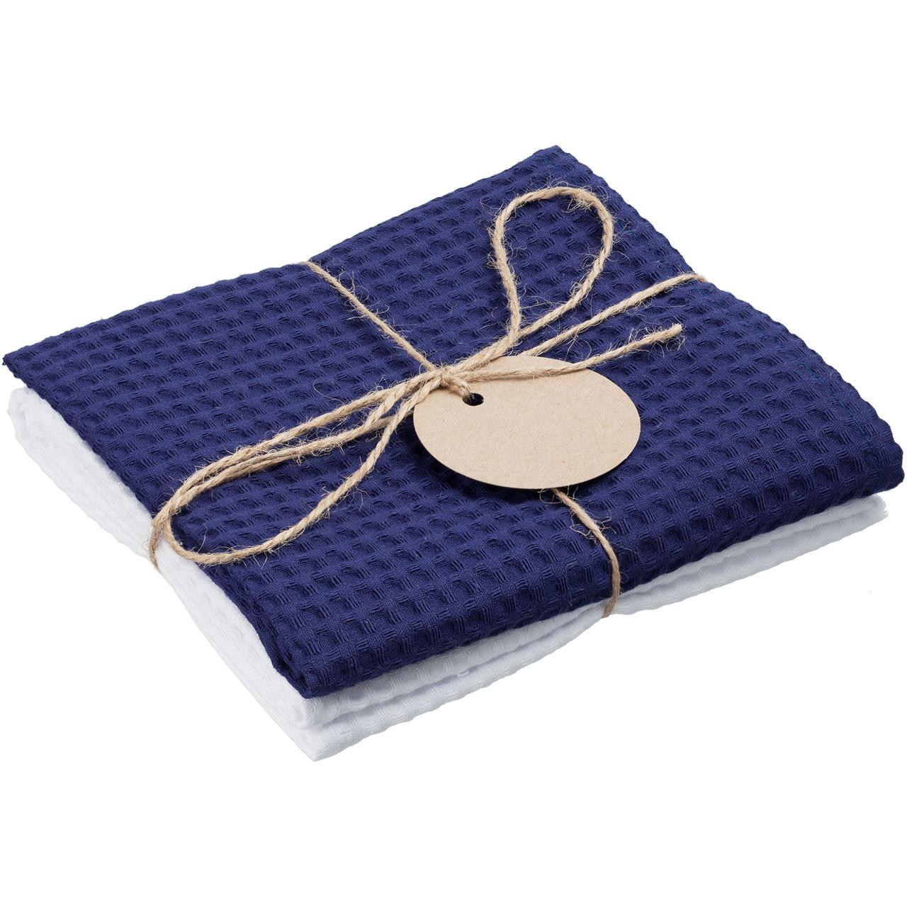 Набор кухонных полотенец Good Wipe, белый с синим (артикул 11176.64)