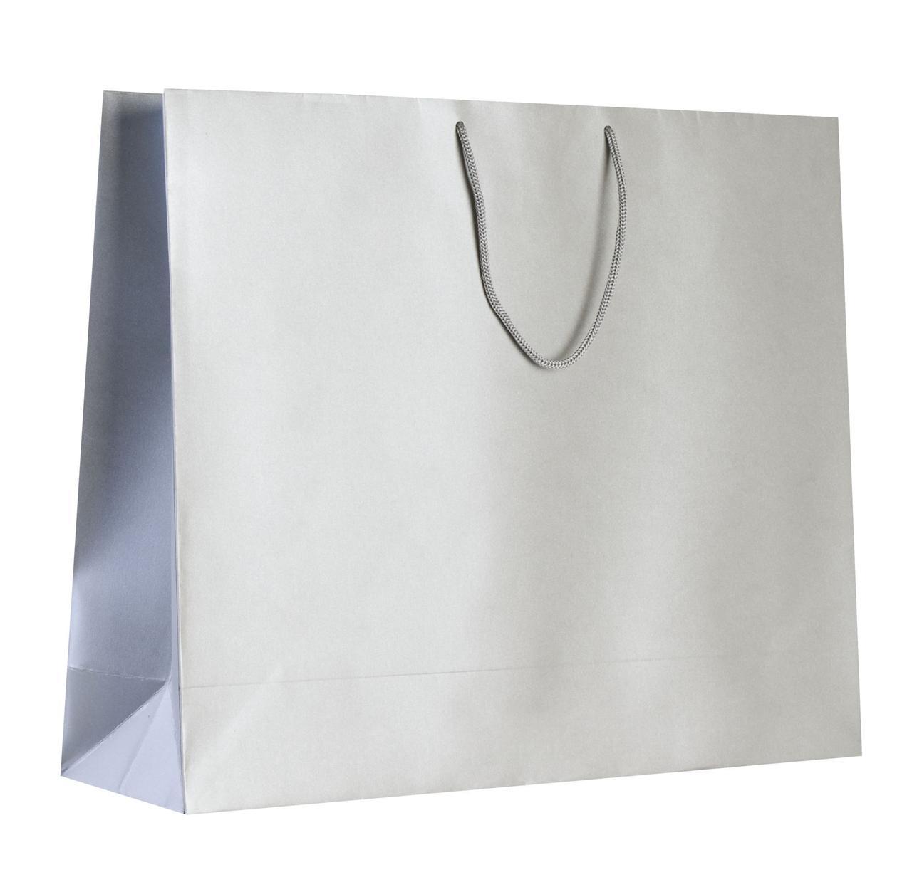 Пакет бумажный «Блеск», большой, серебристый (артикул 5868.10)