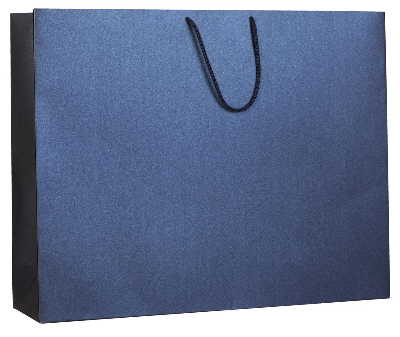 Пакет бумажный «Блеск», большой, синий (артикул 5868.40)