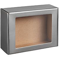 Коробка с окном Visible, серебристая (артикул 11024.10)