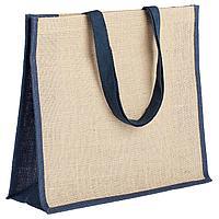 Холщовая сумка для покупок Bagari с синей отделкой (артикул 4866.40), фото 1