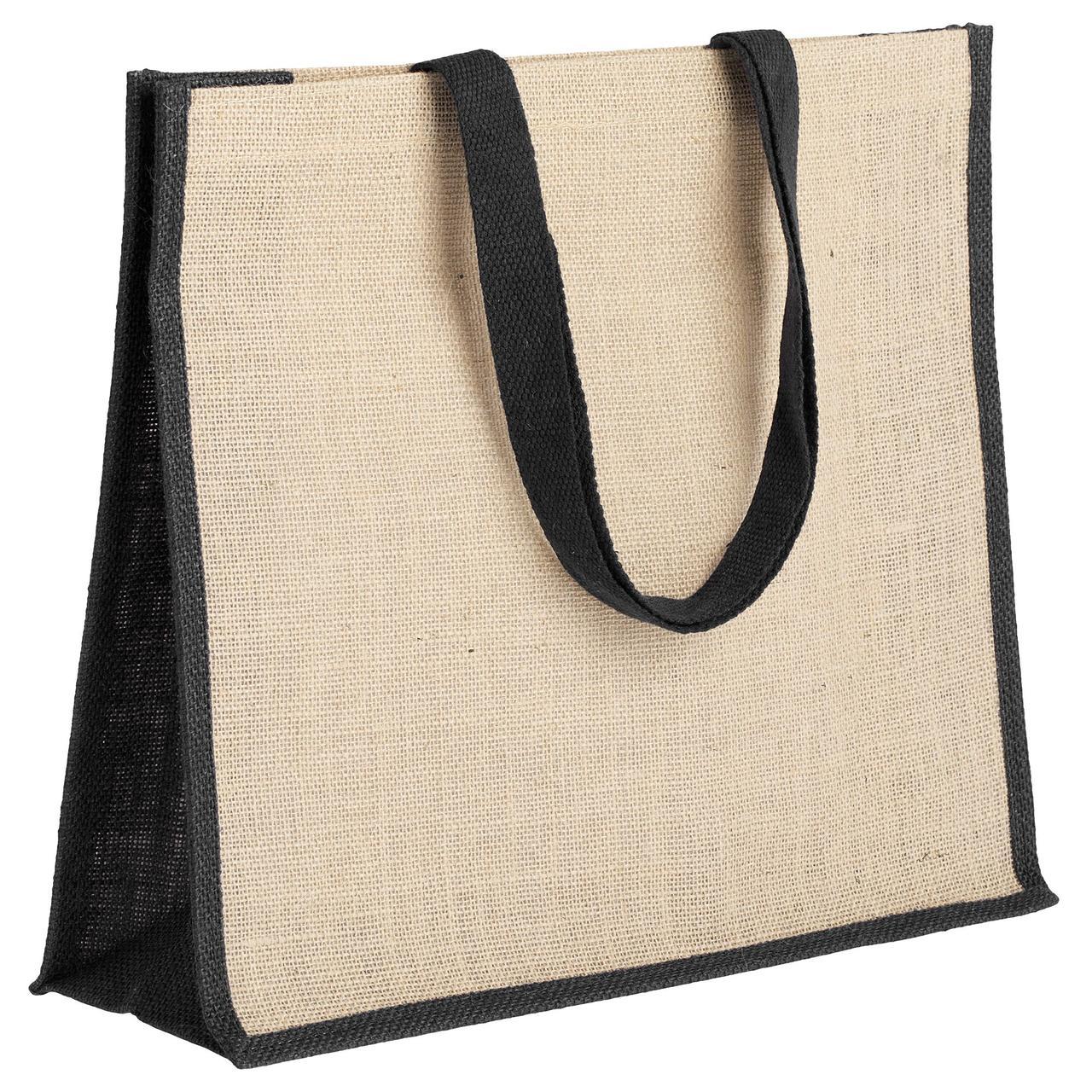 Холщовая сумка для покупок Bagari с черной отделкой (артикул 4866.30)