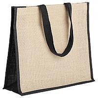 Холщовая сумка для покупок Bagari с черной отделкой (артикул 4866.30), фото 1