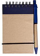 Блокнот на кольцах Eco Note с ручкой, синий (артикул 5596.40)