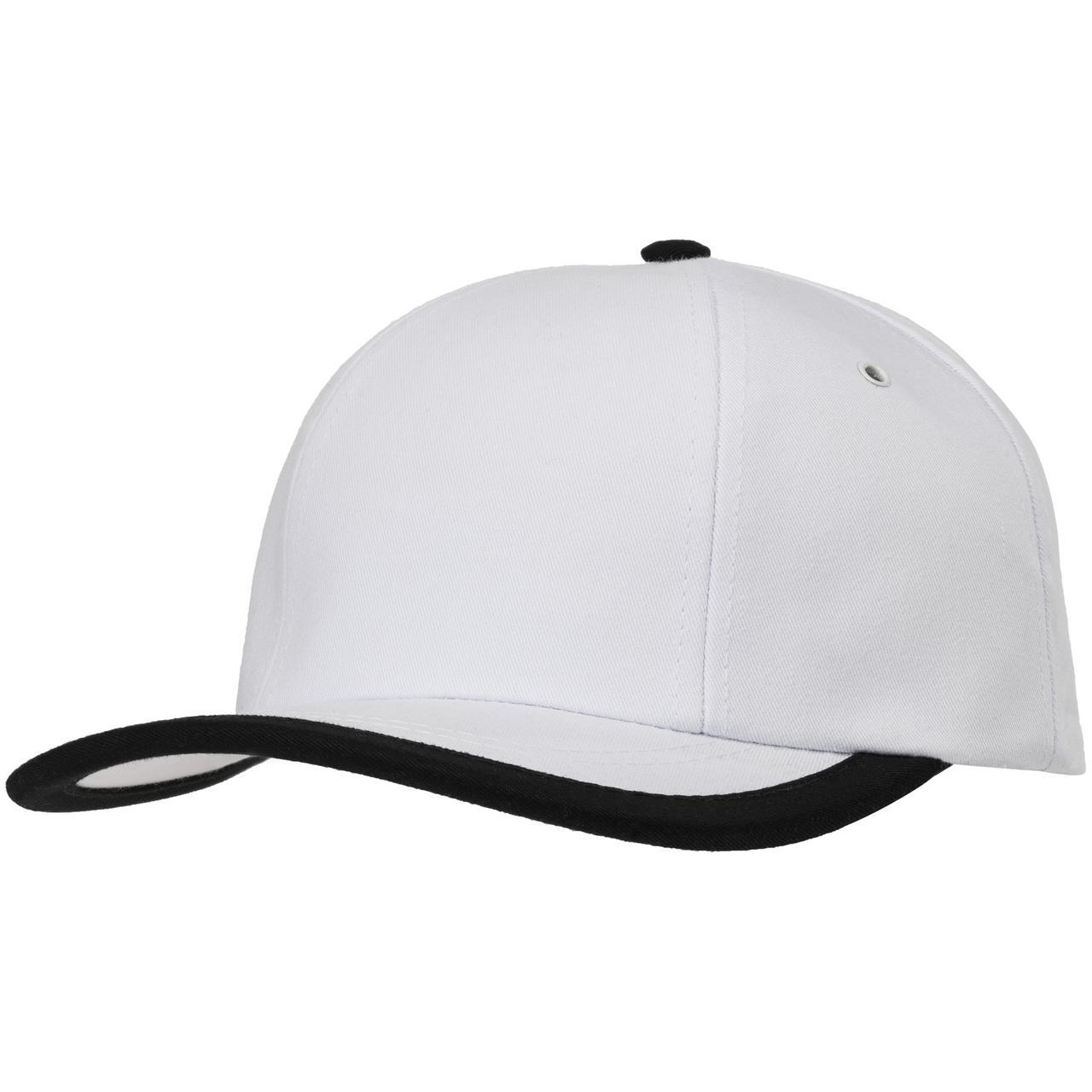 Бейсболка Bizbolka Honor, белая с черным кантом (артикул 11179.60)
