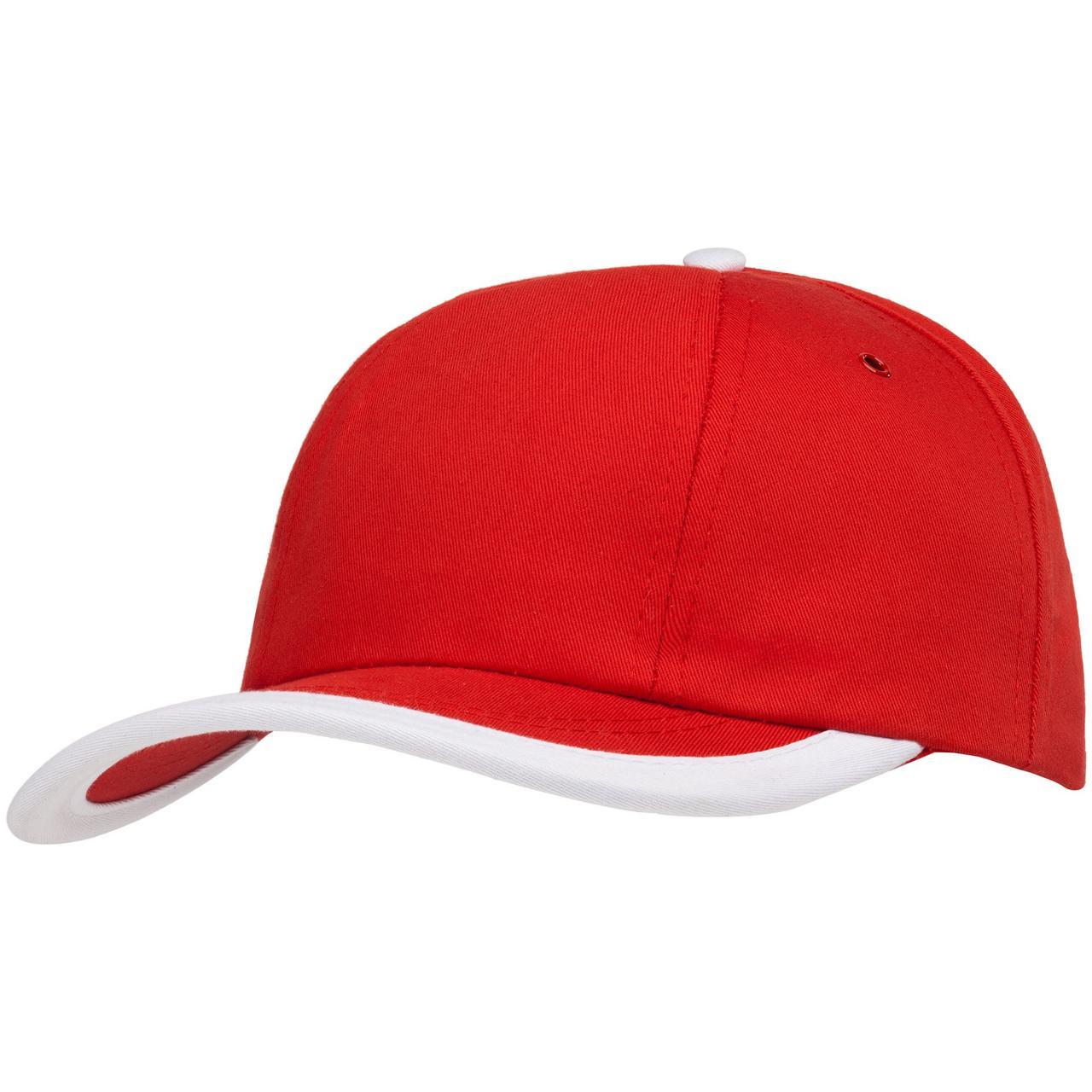Бейсболка Bizbolka Honor, красная с белым кантом (артикул 11179.50)