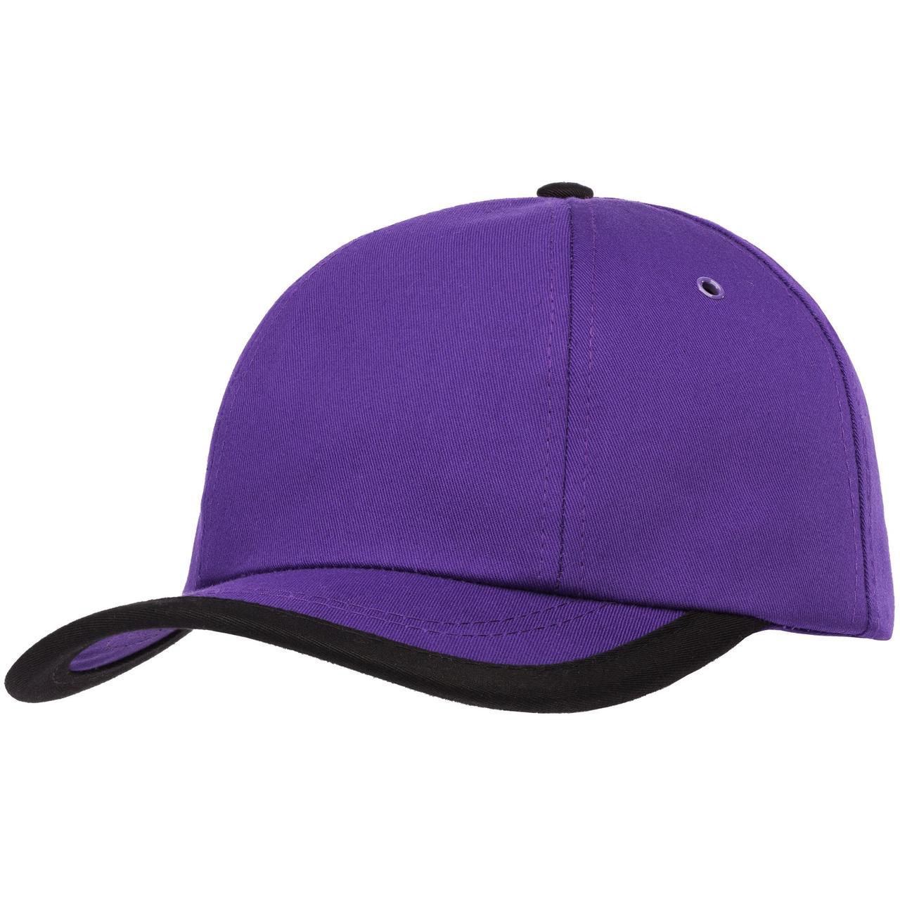 Бейсболка Bizbolka Honor, фиолетовая с черным кантом (артикул 11179.78)