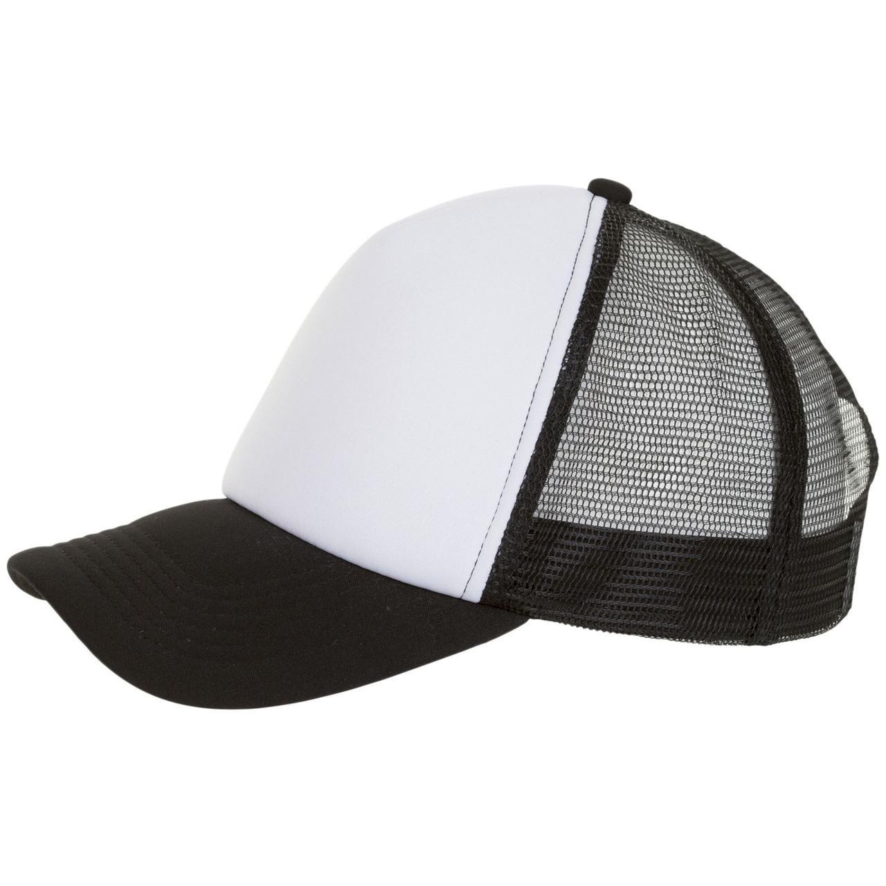 Бейсболка Bubble, черная с белым (артикул 01668906TUN)