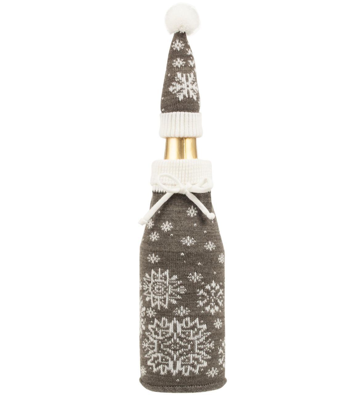 Чехол на бутылку Snow Fairy, серый (артикул 10615.11)