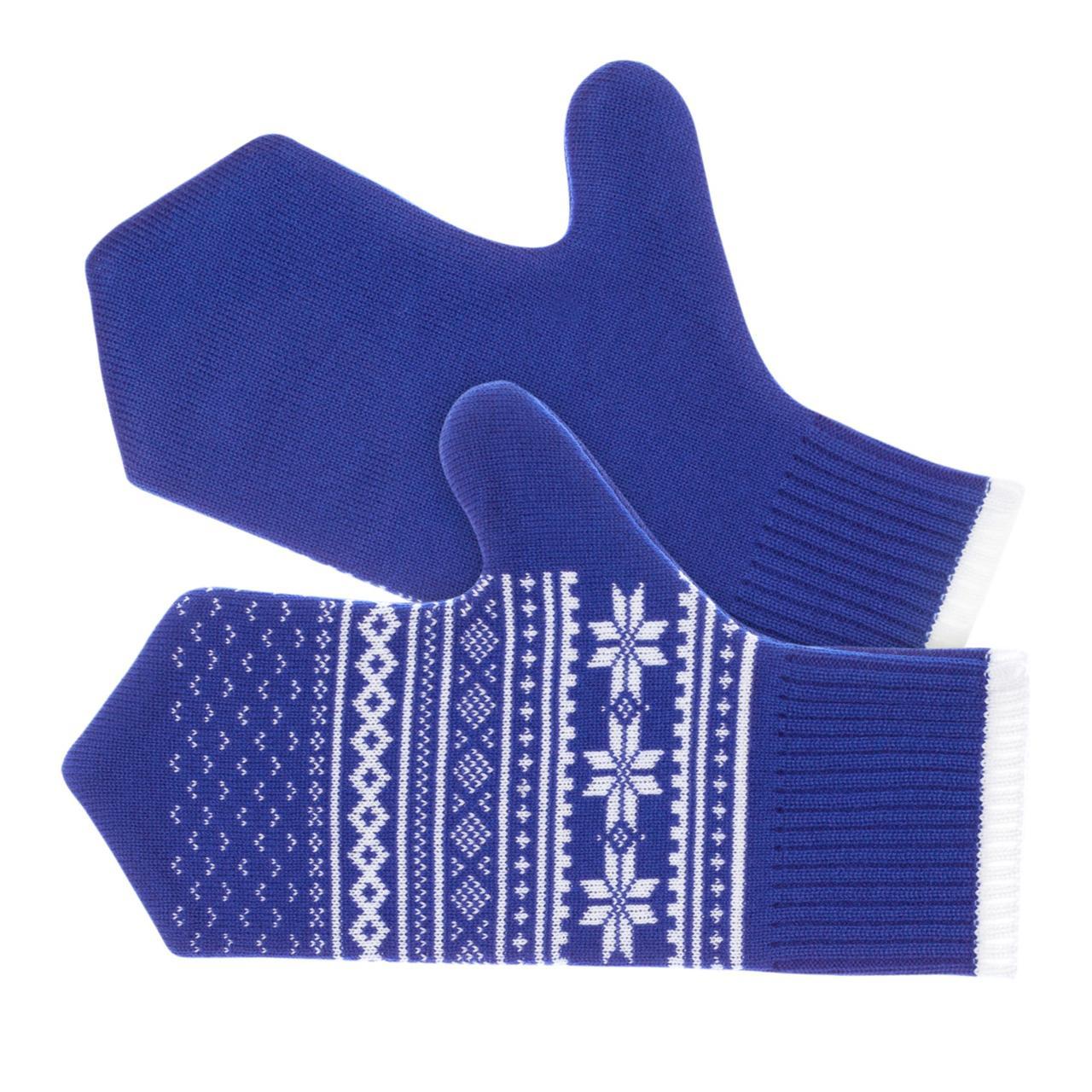 Варежки «Скандик», синие (василек) (артикул 2209.44)