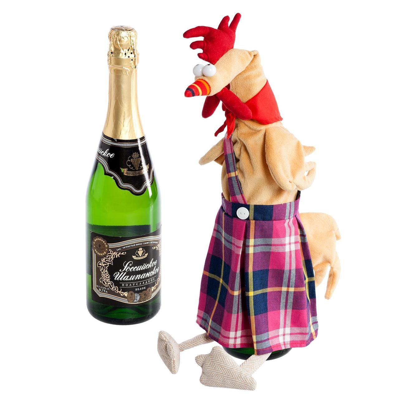 Чехол на шампанское «Глава семейства» (артикул 1460)