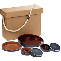 Набор Form Fluid Platter, бордово-горчичный (артикул 23338.58)