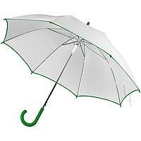 Зонт-трость Unit White, белый с зеленым (артикул 5788.69)