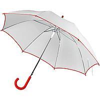 Зонт-трость Unit White, белый с красным (артикул 5788.65)