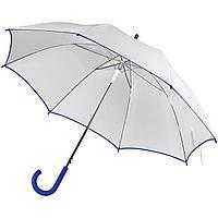 Зонт-трость Unit White, белый с синим (артикул 5788.64)