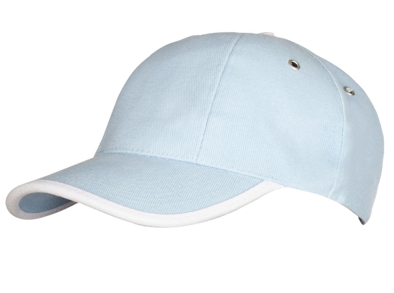Бейсболка Unit Trendy, голубая с белым (артикул 1849.14)